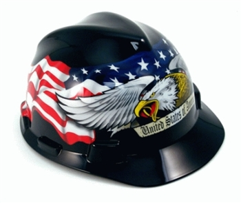 MSA American Pride Hard Hat With Ratchet 10079479