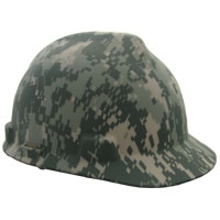 10103908 MSA Digital Camouflage Hardhat With Ratchet Suspension