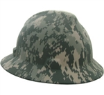 10104254 Digital Camouflage Full Brim Hardhat With Ratchet Suspension