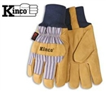 Kinco 1927KW Insulated Leather Winter Work Glove With Knit Wrist - S-XLG