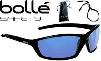 Bolle - Bolle Solis Safety Glasses - Blue Flash Lens