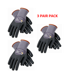 PIP 34-845 MaxiFlex Dotted Palms Micro-Foam Gloves - Sizes SM-XLG - 3 Pair Pack