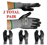 G-Tek MaxiFlex 34-874 PIP Seamless Knit Nylon Gloves - 3 Pair Pack