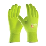 PIP 34-874FY MaxiFlex Ultimate Hi-Vis Nylon/Lycra Glove, Nitrile Coated