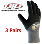 PIP 34-875 MaxiFlex Ultimate Nitrile Micro-Foam Coated Gloves - 3 Pairs