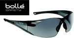 Bolle Rush 40071 Safety Glasses Smoke Gray Lens Black Frame Anti-Frame Lens