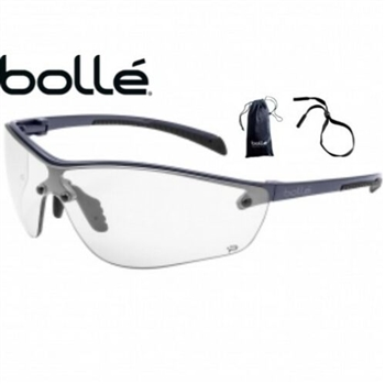 Bolle 40237 Silium Plus Safety Glasses, Graphite Frame With Clear Anti-Fog Lens