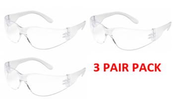 Gateway Safety 4680 Clear, Anti-Scratch Lens - 3 Pair Pack