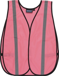 61728 Pink Traffic Walking / Jogging Vest - One Size Fits All.
