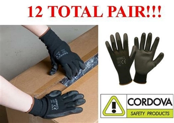 Cordova 6896C PU Ultimate Work Glove Polyurethane Palm Coating, 12 Pairs, S-2XL