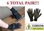Cordova 6896C PU Ultimate Work Glove Polyurethane Palm Coating, 6 Pairs, S-2XL