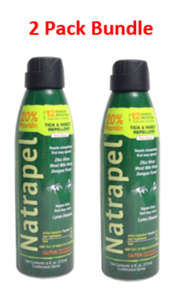 Natrapel 6878 Tick & Insect Repellent 6OZ - 2 Pack