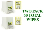 Coretex IvyX 84640 Cleanser Towelette, 25 Per Pack- Two Pack