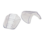 H.L. Bouton Slip-On Sideshields for safety glasses, Clear Flexible, One pair, 99705