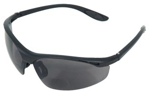 Radians CH1 Cheaters Bifocal Safety Glasses W/Gray Lens & Carry Case