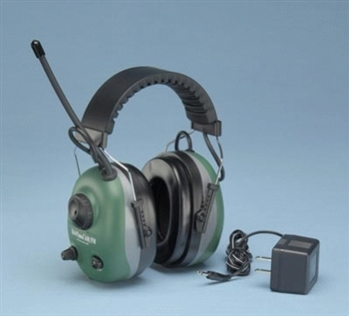 COM660R Elvex Rechargeable AM/FM QuieTunes Earmuffs With Auxilliary Input Jack