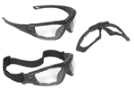 Radians Cuatro CT1-11  4-in-1 Foam Lined Safety Eyewear With Clear Lens