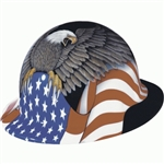E1RW-SOA Fibre Metal Spirit of America Full Brim Hard Hat W/Ratchet Suspension