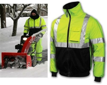 Tingley J26112 Job Sight Bomber II Jacket, ANSI Class 3