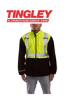 Tingley J73022-M Phase 2 Hi-Vis Fleece Liner/Jacket, Lime/Black