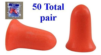 Howard Leight MAX-1 Uncorded Foam Earplug 50 Total Pairs