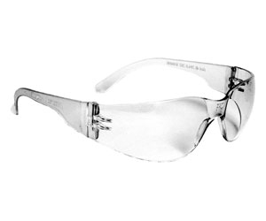 MR0110ID Clear Wrap Around Safety Glasses
