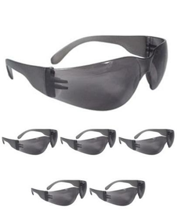 Radians MR0120ID Mirage Smoke Gray Safety Glasses - 6 PAIRS