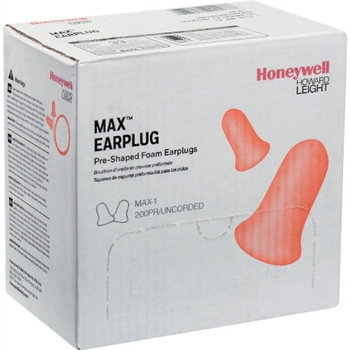 Howard Leight MAX-1 Uncorded Foam Earplug - 1 Box