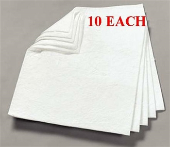 "Oil Absorbent Pads, Heavyweight, Double Weight 17"" x 19"" - 10 per package"