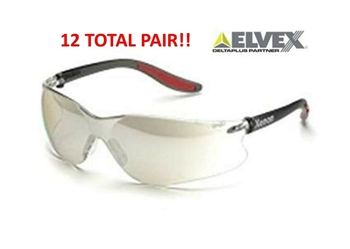 Elvex Xenon SG-14 I/O, Indoor / Outdoor Lens, Safety Glasses - 12 PAIR PACK