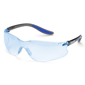Elvex SG-14B Xenon Black Temples, Light Blue Lens Safety Glasses