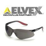 Elvex SG-14G Black Temples, Grey Lens Xenon Safety Glasses