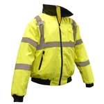 SJ11 Radians High Visibility Class 3 Safety Bomber Jacket - Lined