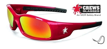 Crews Swagger SR13R With Red Fire Mirror Lens, Safety Cord Included