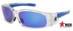 Crews Swagger SR148B Safety Glasses, Blue Mirror Lens
