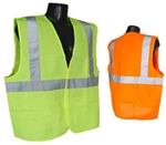 SV2-M Class 2 Mesh Reflective Traffic Vest With Velcro Closure