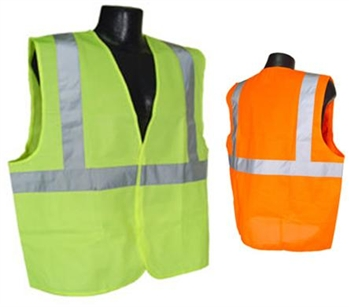 SV2Z-M Class 2 Mesh Reflective Traffic Vest With Zipper Closure