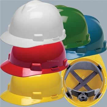 MSA V-Gard Safety Cap With Ratchet Suspension - Choose Color