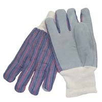 Leather Palm Work Glove With Knit Wrist - Mens