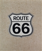 Large Route 66 Shield Magnet