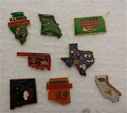 Route 66 State Shaped Pins