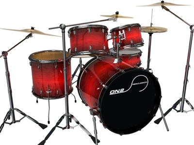 *TEST* Universal Drum Wraps - Active Red