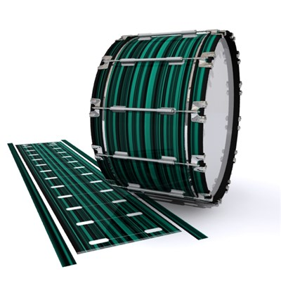Dynasty 1st Generation Bass Drum Slip - Aqua Horizon Stripes (Aqua)