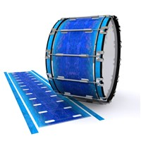 Dynasty 1st Generation Bass Drum Slip - Aquatic Blue Fade (Blue)