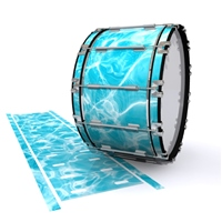 Dynasty 1st Generation Bass Drum Slip - Aquatic Refraction (Themed)