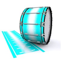 Dynasty 1st Generation Bass Drum Slip - Aqua Wake (Aqua)