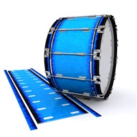 Dynasty 1st Generation Bass Drum Slip - Bermuda Blue (Blue)