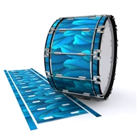 Dynasty 1st Generation Bass Drum Slip - Blue Feathers (Themed)