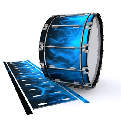 Dynasty 1st Generation Bass Drum Slip - Blue Flames (Themed)