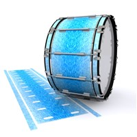 Dynasty 1st Generation Bass Drum Slip - Blue Ice (Blue)